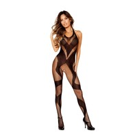 Roma RM-LI200 Swirly Crotchless Bodystocking