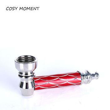 COSY MOMENT Mini Metal Pipe Jamaica Rasta Portable Tobacco Herb Smoking Pipes Mill Smoke Detectors Smoking Accessories YJ011