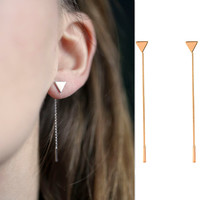 Fashion Women Lady Elegant Crystal Rhinestone Ear Stud Earrings Gift [4918492740]