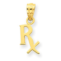 14k Prescription Symbol RX Pendant YC518