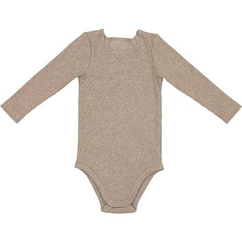 Lil Leggs Unisex-baby Oatmeal Ribbed Onesuit
