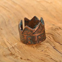 Brass handmade ring metal jewelry original stylish women accessories unique gift