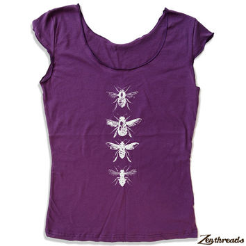 Womens BEES Scoop Neck Tee - american apparel T Shirt S M L XL (4 Color Options)