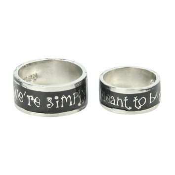 The Nightmare Before Christmas His And Hers Ring Set