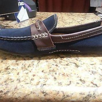 NEW FLORSHEIM ROADSTER PENN NAVY/BROWN MEN'S SHOES