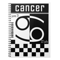 Cancer Two-Tone Zodiac Notebook.