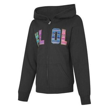 Hanes ComfortSoft™ EcoSmart Girls' Graphics Full-Zip Hoodie Sweatshirt