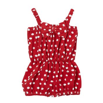 Red Dot Cinched Waist Romper