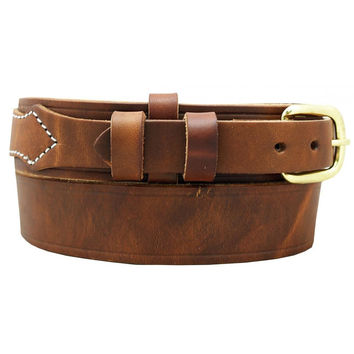 Buffalo Mens Leather Ranger Style Western Work Belt