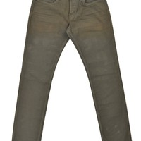 Tom Ford Mens Light Olive Green Cotton Straight Fit Jeans TFD002