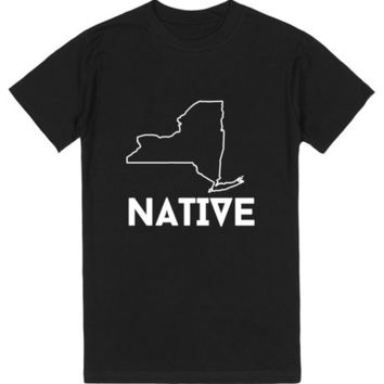 NATIVE BLACK SHIRT WHITE TEXT