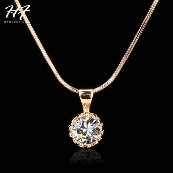 Crown Pendant Necklace for Women Retro Classic Stone Jewelry