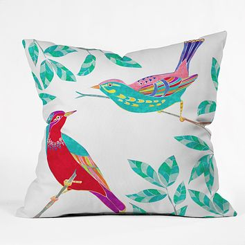 Jacqueline Maldonado Songbirds 1 Throw Pillow