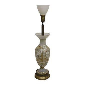 Pre-owned Hollywood Regency Torchiere Table Lamp