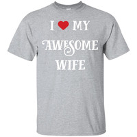 I Love My Awesome Wife T-shirt Couples