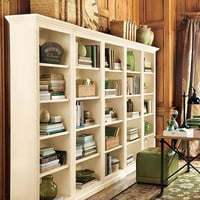 Tuscan Flush Bookcases - Set of 5