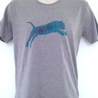 Tiger t-shirt - hand printed, organic cotton, carbon neutral garment