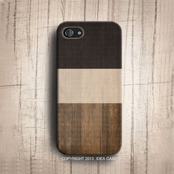 iphone 5S case Color block Print Wood Geometric iphone 4s iphone 5 case Wood iphone cover