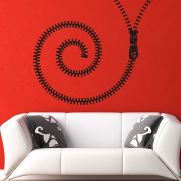 Vinyl Wall Decal Sticker Spiral Zipper #OS_AA1342