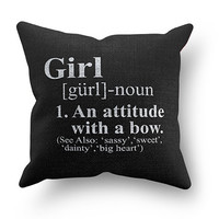 Girl Definition Pillow Covers