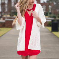 Perfectly Poised Cardigan, Ivory