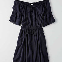 AEO Raglan Sleeve Tassel Dress, Indigo