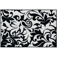 Walmart: your zone miranda nylon rug, black/white, 3' x 4'8""