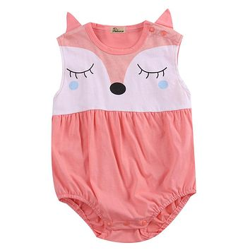 Cute Newborn Infant Baby Boy Girls Fox Cartoon Clothes Cotton Romper Outfits