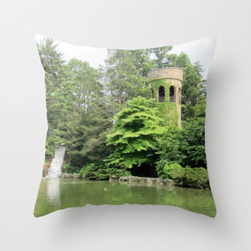 Rapunzel Tower Pillow, Enchanted Forest, Wanderlust Pillow, Once Upon a Time, French Decor, Fairy Tale Pillow, Whimsical Pillow Cover, 16X16