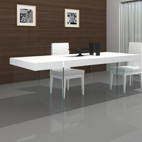 J&M Furniture Cloud Modern Dining Table White