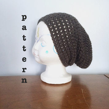 PATTERN Crochet Kid's Slouchy Beanie - Toddler Beanie Pattern - Crochet Beanie Pattern - Kid's Hipster Beanie - Crochet Slouch Hat Pattern
