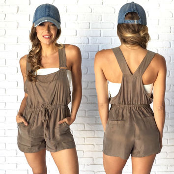 Fig & Olive Silk Romper & Short Overalls