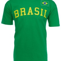Dynasty Men's Brasil Soccer Country Graphic T-Shirt