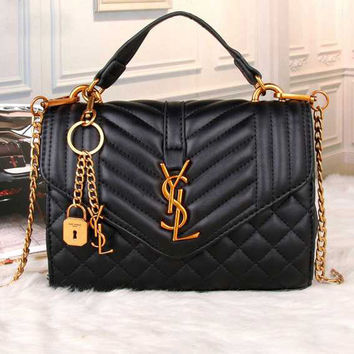 YSL Yves Saint Laurent Women Shopping Fashion Leather Chain Satchel Shoulder Bag Crossbody