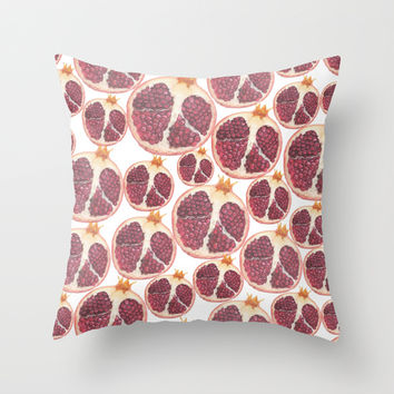 pomegranate Throw Pillow by Austeja Saffron