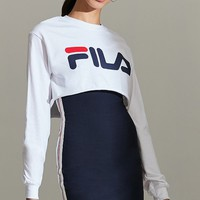 FILA + UO Cropped Long Sleeve Tee | Urban Outfitters