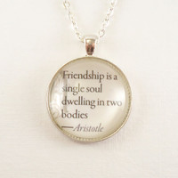 Custom Quote Necklace  Inspirational Quotes Love by cellsdividing