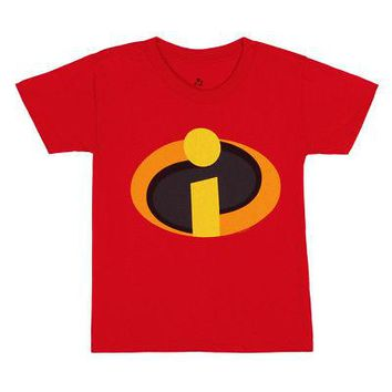The Incredibles I Am Incredible Logo Disney Pixar Licensed Toddler T-Shirt - Red