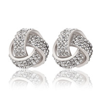 White Gold Knotted Earring