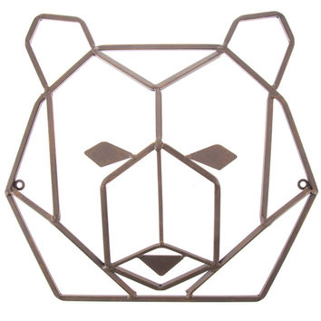 Rust Geometric Bear Head Metal Wall Decor | Hobby Lobby | 1280866