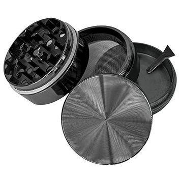 "Goliath Industry #1 Best Herb, Spice, Tobacco Leaves & Weed Grinder With Pollen Catcher 2"" - Made Of Durable Titanium - 4 Chambers & 36 Sharp, Diamond Shaped Teeth (Gun Metal)"