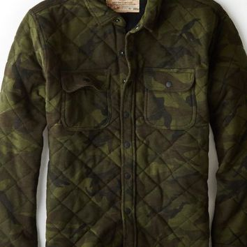 AEO Men's Vintage Camo Quilted Jacket (Classic Camo)