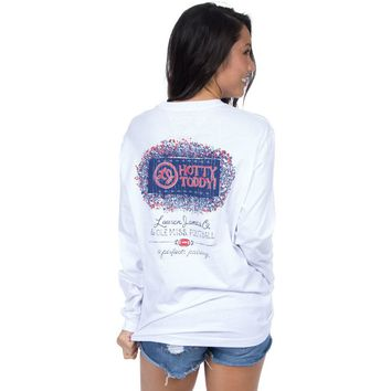 Ole Miss Perfect Pairing Long Sleeve Tee in White by Lauren James