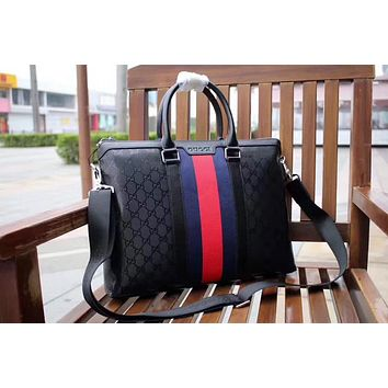GUCCI MEN'S 2018 HOT STYLE LEATHER BRIEFCASE BAG CROSS BODY BAG