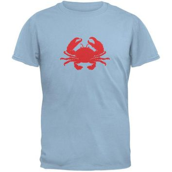 DCCKJY1 Summer - Crab Faux Stitched Light Blue Youth T-Shirt