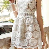 Sunflower lace dress from Moonlightgirl