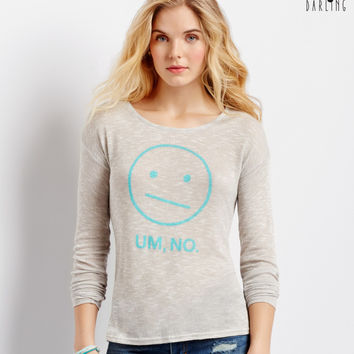 Aeropostale  Tokyo Darling Long Sleeve Um No Sheer Hi-Lo Top
