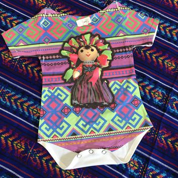 Mexican Maria Doll Onesuit for Baby