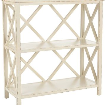 Liam Open Bookcase Vintage Cream