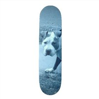 Blue Pit Bull Skateboard from Zazzle.com